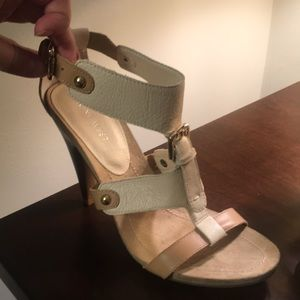 Fun cream and tan sandals